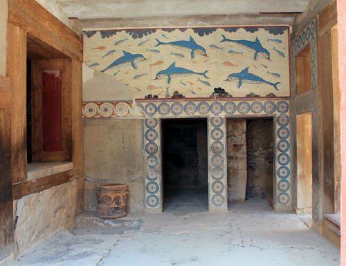 Palace of Knossos on the island of Crete